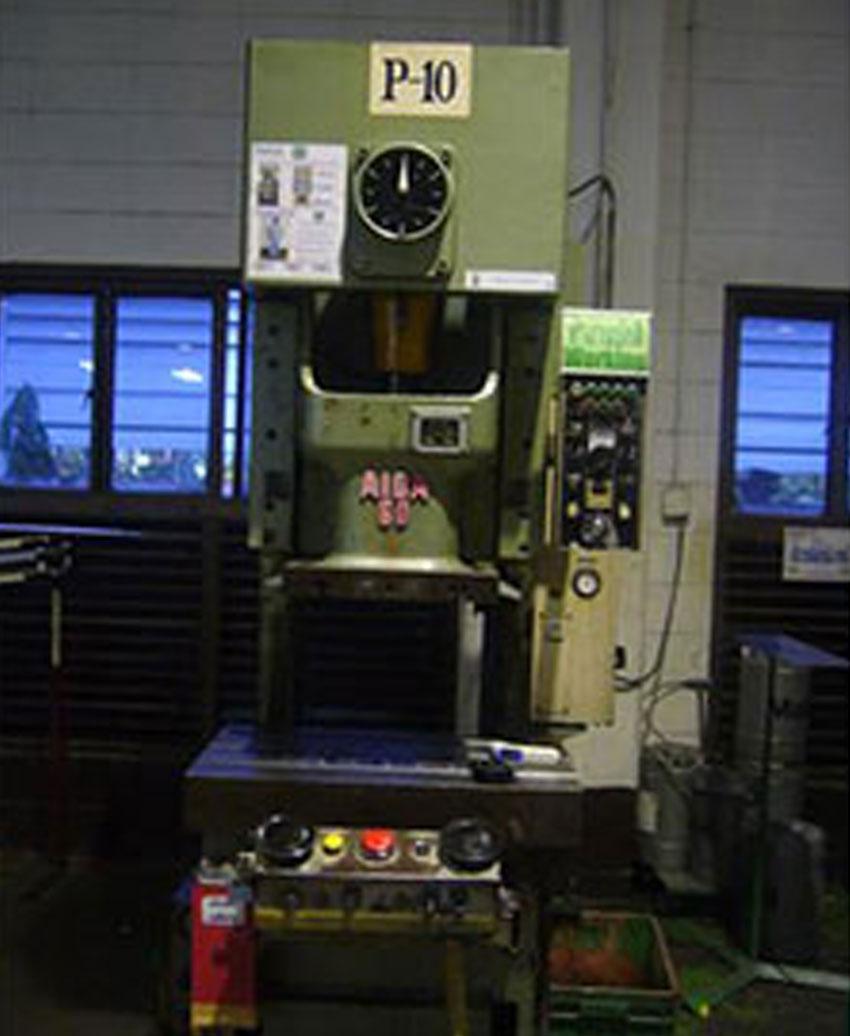 Repairing works for -AIDA- Press 60 tons